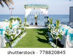 wedding ceremony setting in the ... | Shutterstock . vector #778820845