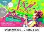jazz all night poster  music... | Shutterstock .eps vector #778821121