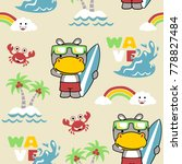 vector seamless pattern with... | Shutterstock .eps vector #778827484