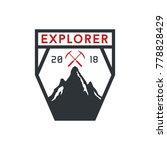 mountain explorer badge symbol   Shutterstock .eps vector #778828429
