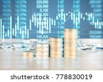 coin stacks   business money... | Shutterstock . vector #778830019