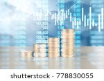 coin stacks   business money... | Shutterstock . vector #778830055