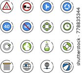 line vector icon set   round... | Shutterstock .eps vector #778835344