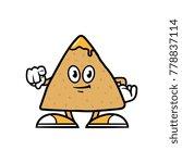cartoon pointing tortilla chip... | Shutterstock .eps vector #778837114