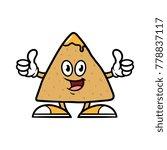 cartoon tortilla chip character ... | Shutterstock .eps vector #778837117
