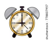 alarm clock with bells | Shutterstock .eps vector #778837957