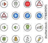 line vector icon set   right... | Shutterstock .eps vector #778839091