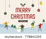 merry charistmas winter concept ... | Shutterstock .eps vector #778841335