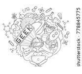 vector cartoon doodle...   Shutterstock .eps vector #778845775