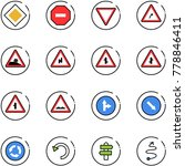 line vector icon set   main... | Shutterstock .eps vector #778846411