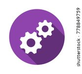gear vector flat icon. | Shutterstock .eps vector #778849759