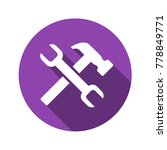 wrench and hammer vector flat...   Shutterstock .eps vector #778849771