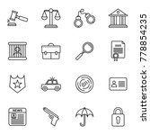 law and justice icons... | Shutterstock .eps vector #778854235
