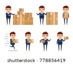 set of sportsman characters... | Shutterstock .eps vector #778856419