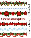 set of n seamless christmas... | Shutterstock .eps vector #778856461