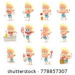 vector set of twelve cartoon... | Shutterstock .eps vector #778857307