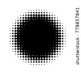 halftone circles  halftone dots ... | Shutterstock .eps vector #778857841