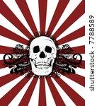 skull burst vector   Shutterstock .eps vector #7788589