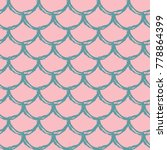 mermaid tail seamless pattern.... | Shutterstock .eps vector #778864399