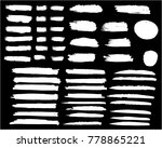 collection of hand drawn white... | Shutterstock .eps vector #778865221