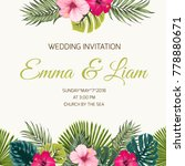 wedding invitation card design... | Shutterstock .eps vector #778880671