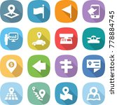 flat vector icon set   pointer... | Shutterstock .eps vector #778884745
