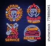 auto service repair collection... | Shutterstock .eps vector #778886041