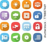 flat vector icon set   chip... | Shutterstock .eps vector #778887469