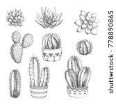 vector set of houseplants....