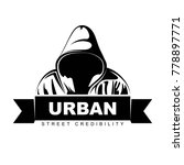 man in hoodie. logo design.  | Shutterstock .eps vector #778897771