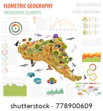 isometric 3d south america... | Shutterstock .eps vector #778900609