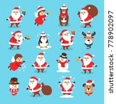 set of christmas icons with... | Shutterstock .eps vector #778902097