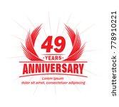 49 years design template....   Shutterstock .eps vector #778910221