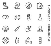 pharmaceutical icon set.... | Shutterstock .eps vector #778920241