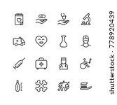 orthodontic icon set.... | Shutterstock .eps vector #778920439