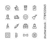 pharmaceutical icon set.... | Shutterstock .eps vector #778922065