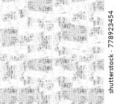 grunge black and white pattern. ... | Shutterstock . vector #778923454