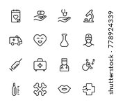 oncology icon set. collection... | Shutterstock .eps vector #778924339