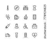 pharmaceutical icon set.... | Shutterstock .eps vector #778924825