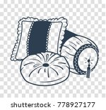 cushion set icon  silhouette in ... | Shutterstock .eps vector #778927177