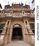 pamplona city hall facade in... | Shutterstock . vector #77892739