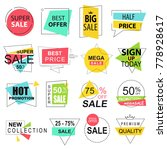 sale labels collection modern.... | Shutterstock . vector #778928617