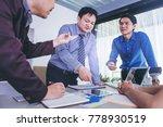 business people meeting design... | Shutterstock . vector #778930519