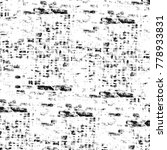 grunge black and white pattern. ... | Shutterstock . vector #778933831