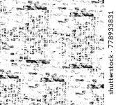 grunge black and white pattern. ... | Shutterstock . vector #778933831