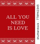 valentine greeting card. all... | Shutterstock .eps vector #778942345