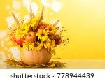 original autumn bouquet of... | Shutterstock . vector #778944439