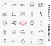 fashion line icons set | Shutterstock .eps vector #778944811