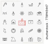 set of vector thin line icons... | Shutterstock .eps vector #778945447