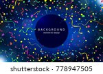 happy new year 2018 background... | Shutterstock .eps vector #778947505